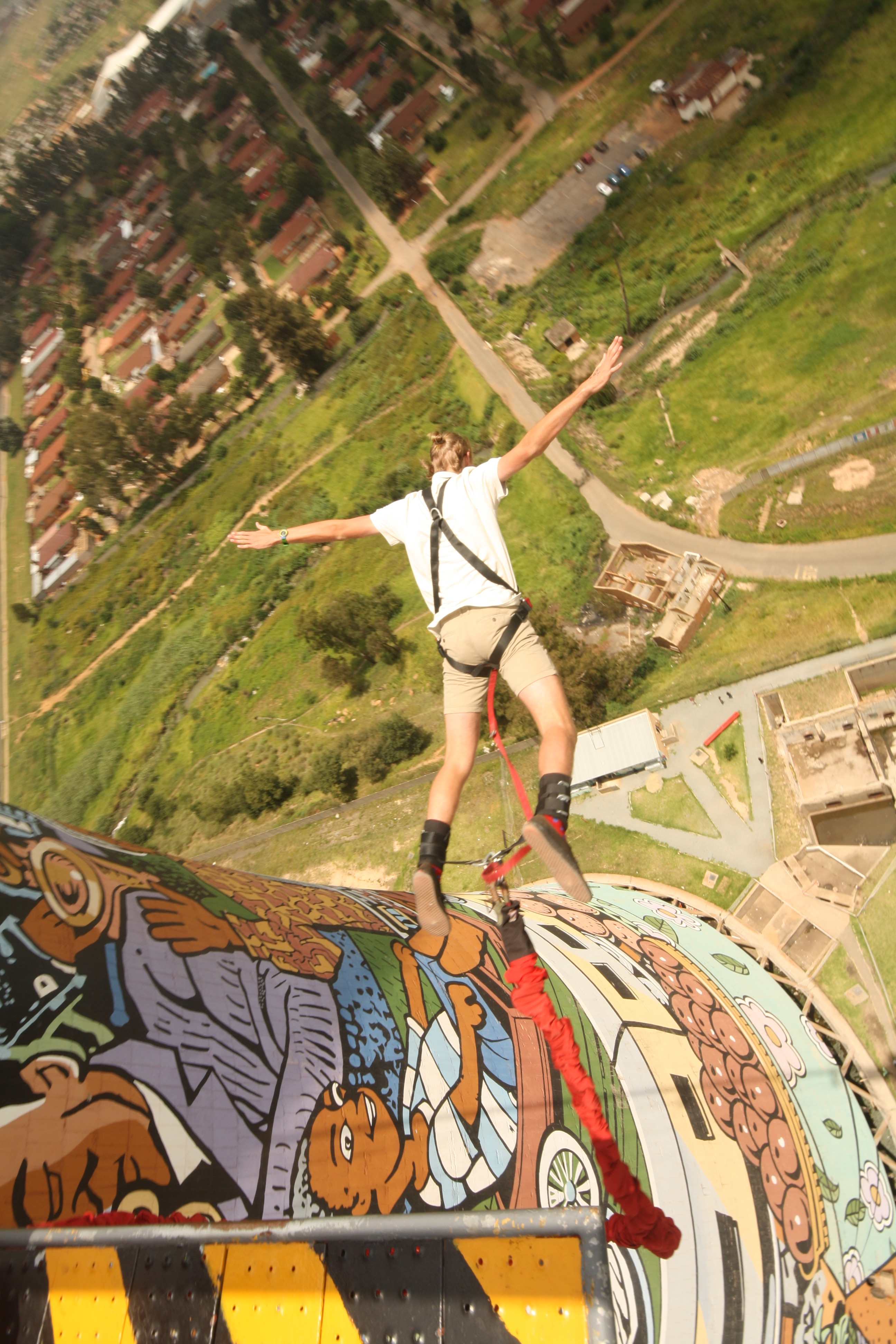 My bunji jump off soweto towers...scary & amazing!